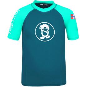 TROLLKIDS Kvalvika T-shirt Børn, turkis/petroleumsgrøn